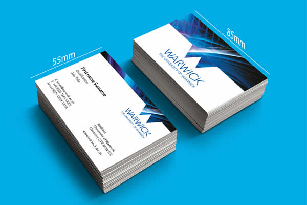 Business Card printing example one
