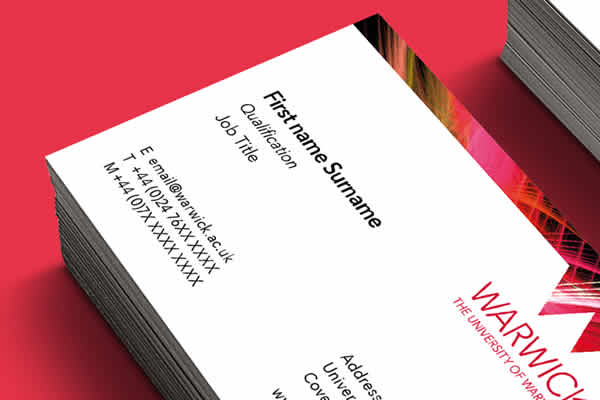 Business Card printing example two